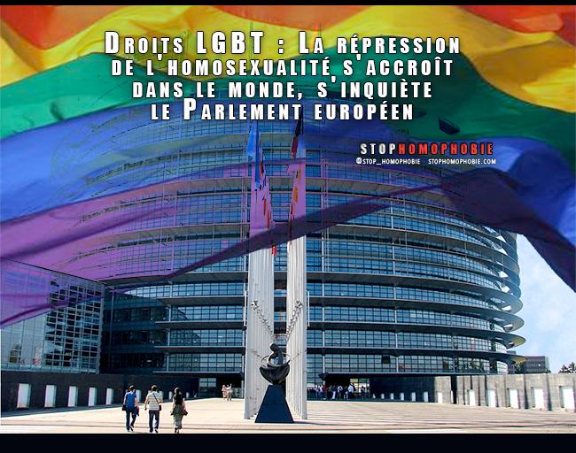 Droits LGBT : La répression de l'homosexualité s'accroît dans le monde, s'inquiète le Parlement européen