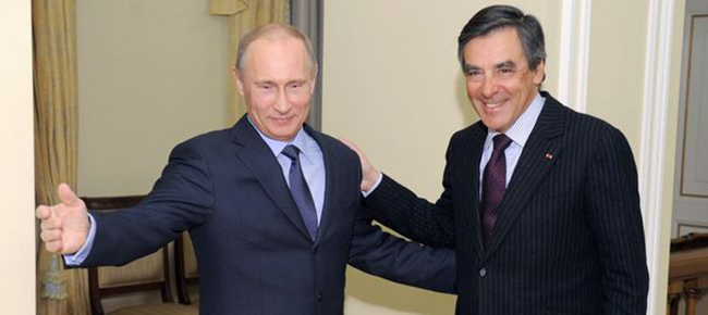 François Fillon et son ami Poutine