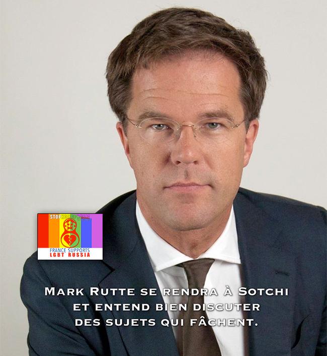 #Homosexualité : Le Premier ministre des Pays-Bas veut en parler à #Sotchi