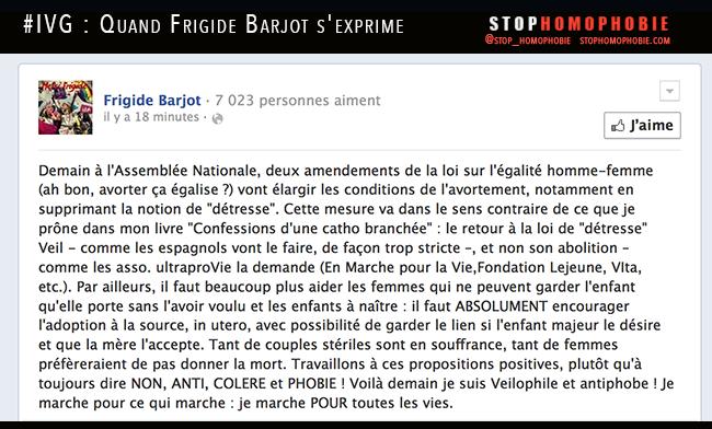 Les confessions de Frigide Barjot sur les conditions de l'avortement débattu ce lundi à l'Assemblée Nationale