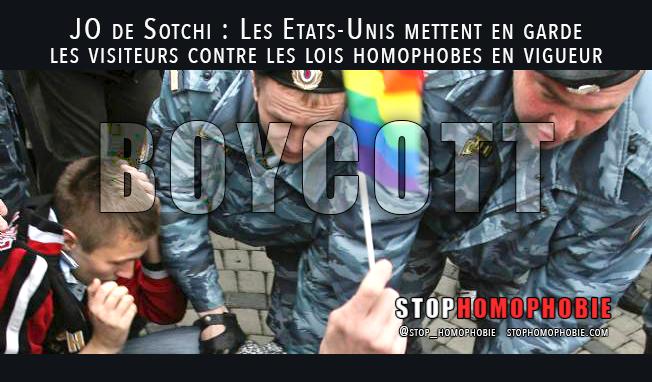 #JO de #Sotchi : Les Etats-Unis mettent en garde les visiteurs contre les lois #homophobes en vigueur