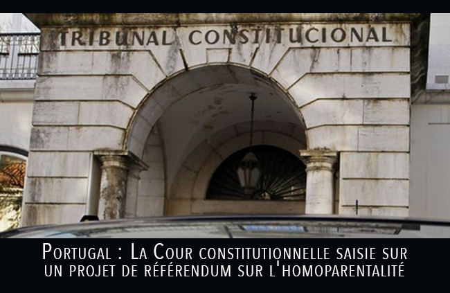 Portugal : La Cour constitutionnelle saisie sur un projet de référendum sur l'homoparentalité