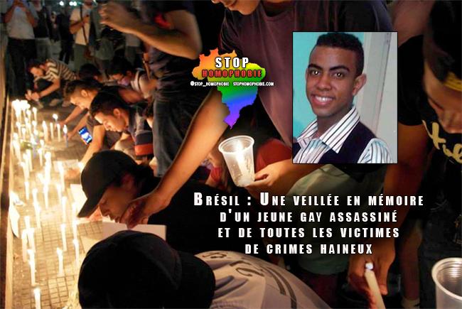 Brésil : Une veillée en mémoire d'un jeune gay assassiné et de toutes les victimes de crimes haineux
