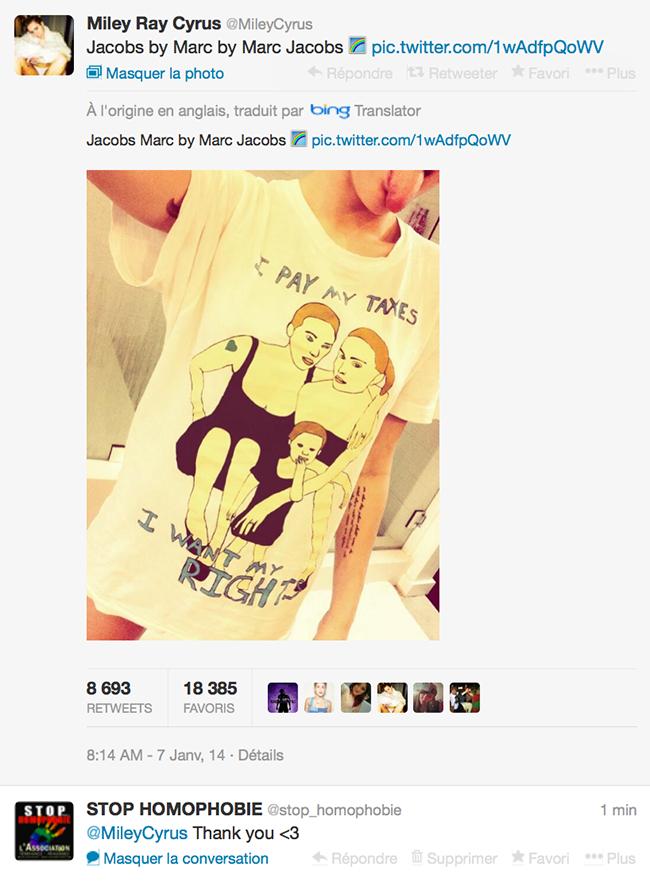 Quand @MileyCyrus affiche son soutien à la communauté LGBT
