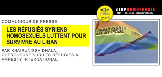 @AmnestyOnline Les #réfugiés syriens #homosexuels luttent pour survivre au #Liban