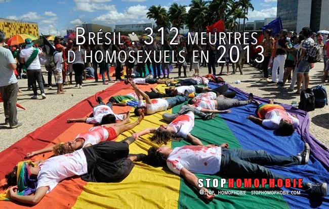 Brésil : 312 meurtres d'homosexuels en 2013