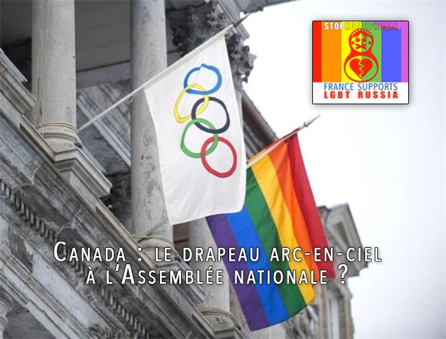 #CheersToSochi #Solidarité #Canada #le drapeau arc-en-ciel à l'Assemblée nationale ?