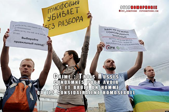Crime : Trois #russes condamnés pour avoir tué et brûlé un homme qu'ils considairaient comme #homosexuel