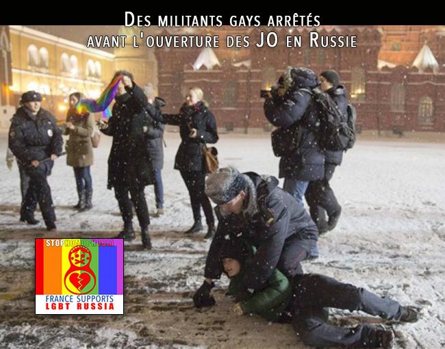 Des militants #gays arrêtés avant l'ouverture des #JO en #Russie