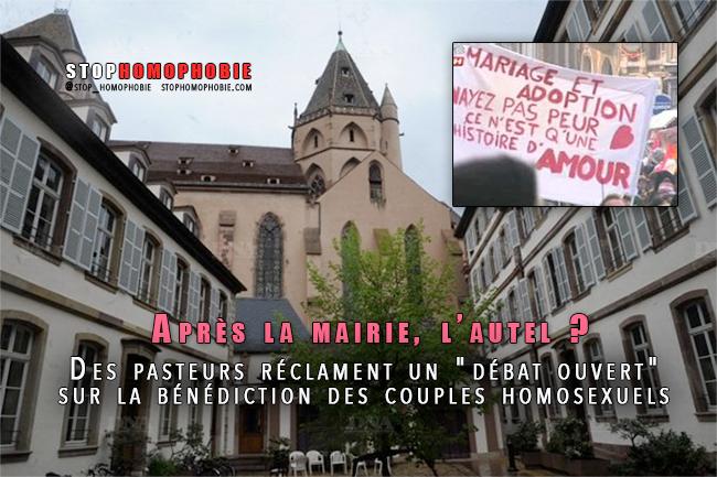 """Après la Mairie, l'autel ? Des pasteurs réclament un """"débat ouvert"""" sur la bénédiction des couples homosexuels"""