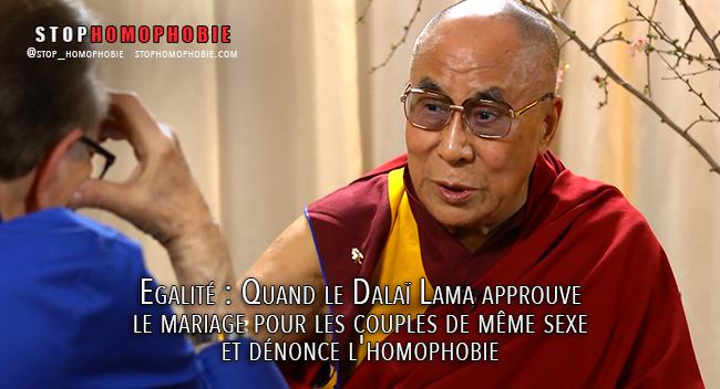 Egalité : Quand le Dalaï Lama approuve le mariage pour les couples homosexuels et dénonce l'#homophobie