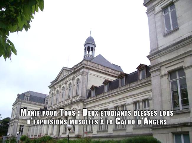 Manif pour Tous : Deux étudiants blessés lors d'expulsions musclées à la Catho d'Angers