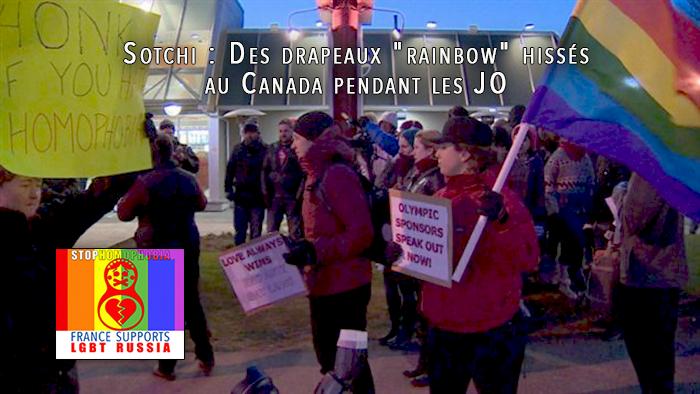 """#Sotchi : Des drapeaux """"rainbow"""" hissés au Canada pendant les #JO"""