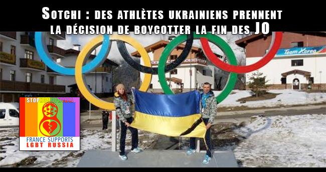 #Sotchi : des athlètes ukrainiens prennent la décision de #boycotter la fin des #JO