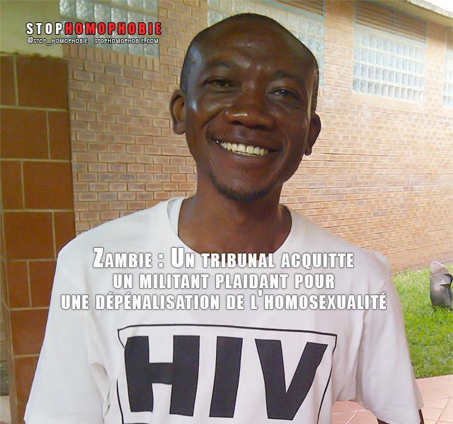 Zambie : Un tribunal acquitte un militant plaidant pour une #dépénalisation de l'#homosexualité