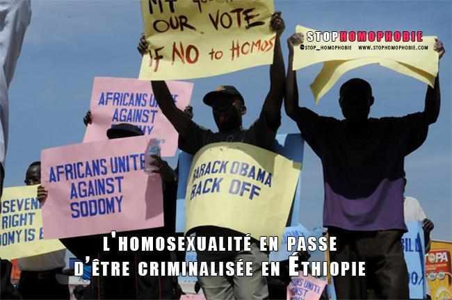 ADDIS ABEBA : L'homosexualité en passe d'être criminalisée en Ethiopie ?