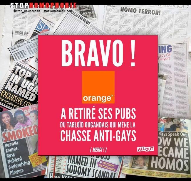 Loi anti-homosexualité : l'entreprise mondiale de télécoms Orange s'engage à défendre ses employés LGBT en Ouganda