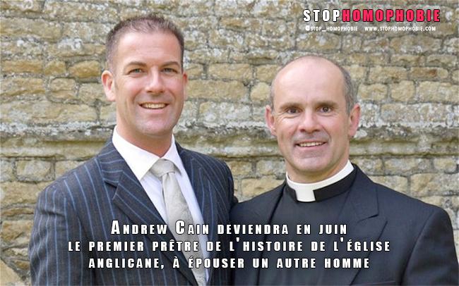 Andrew Cain deviendra le premier prêtre de l'histoire de l'église anglicane à épouser un autre homme