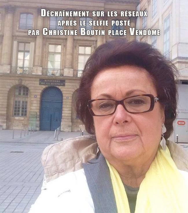 Christine Boutin, risée du web, après un selfie posté depuis la place Vendôme