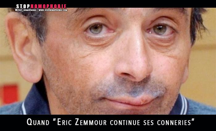"""Quand Eric Zemmour continue ses conneries : """"reste au Figaro et c'est déjà trop !"""""""