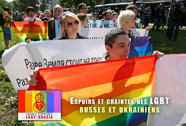 Espoirs et craintes des LGBT russes et ukrainiens