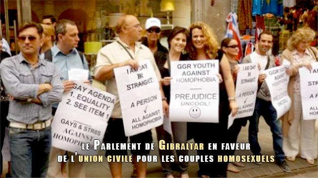 Gibraltar : Le Parlement se prononce en faveur d'une union civile pour les couples homosexuels et hétérosexuels