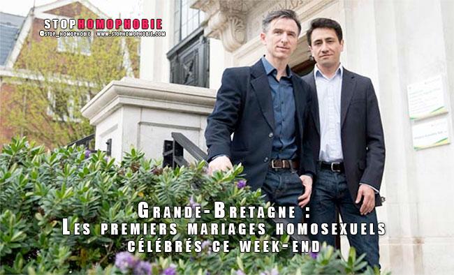 Grande-Bretagne : Les premiers mariages homosexuels célébrés ce week-end