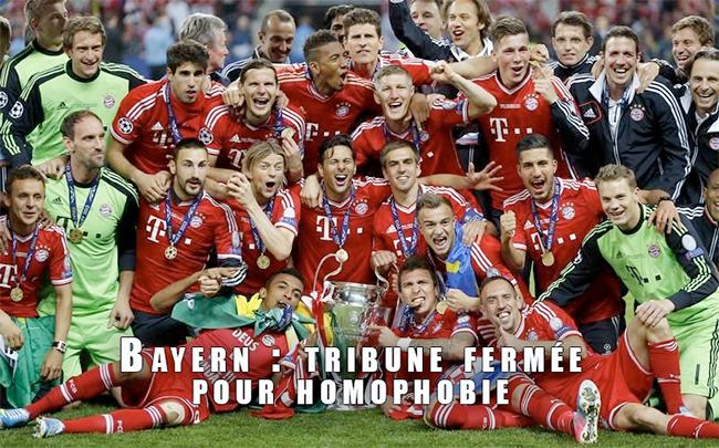 Le Bayern sanctionné par l'UEFA pour homophobie