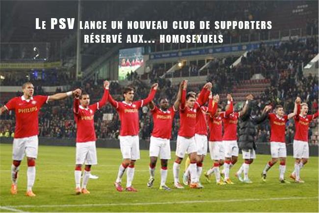 Le PSV lance un nouveau club de supporters réservé aux... homosexuels