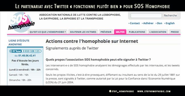 Le partenariat avec Twitter « fonctionne plutôt bien » pour SOS Homophobie