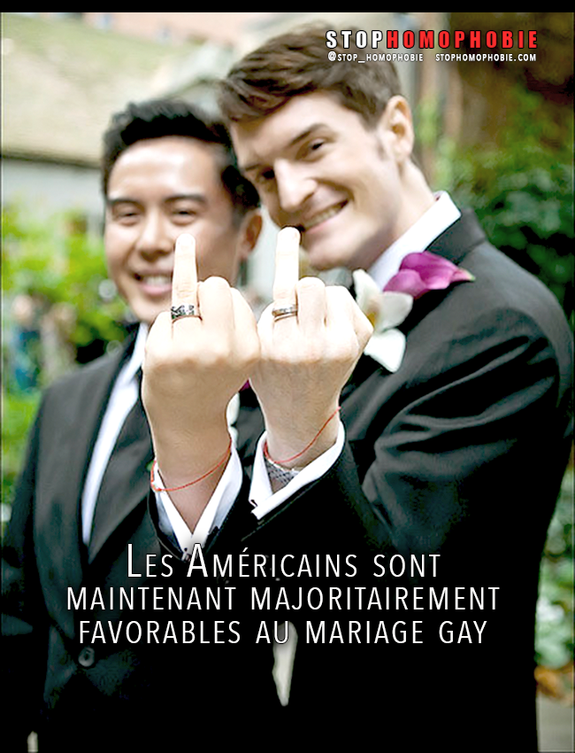 #Égalité : Les Américains sont maintenant majoritairement favorables au mariage #gay