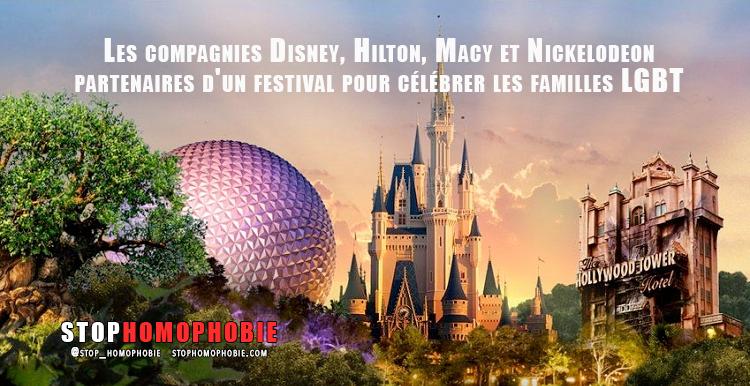 Les compagnies @Disney, #Hilton, @Macy et #Nickelodeon partenaires d'un #festival pour célébrer les familles #LGBT