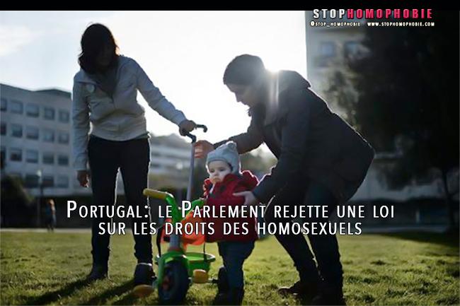 Lisbonne : Les homosexuels portugais ne pourront pas adopter les enfants de leur conjoint
