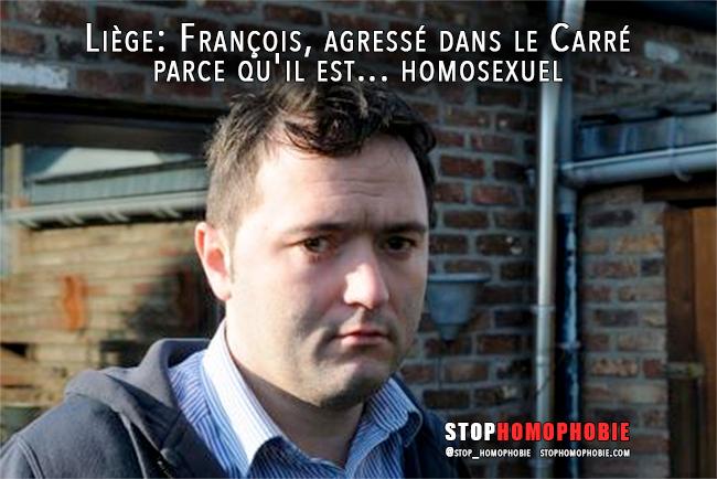 Liège: François, agressé dans le Carré parce qu'il est... #homosexuel !