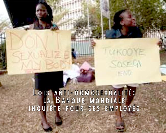 Lois anti-homosexualité: la Banque mondiale inquiète pour ses employés