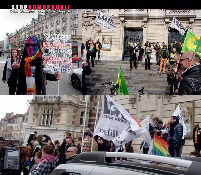 Manifestation à #Lille contre des agressions #homophobes