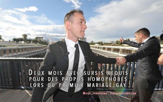 JUSTICE : Deux mois avec sursis pour des propos homophobes lors du premier mariage homosexuel