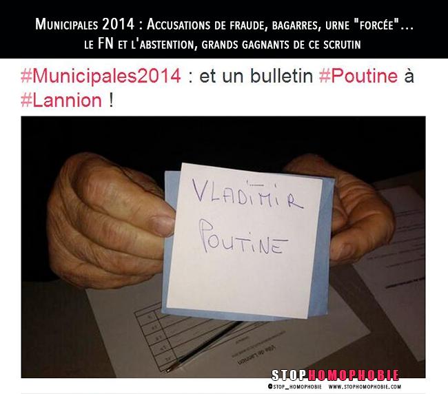 """#Municipales 2014 : Accusations de fraude, bagarres, urne """"forcée""""… le FN et l'abstention, grands gagnants de ce scrutin"""