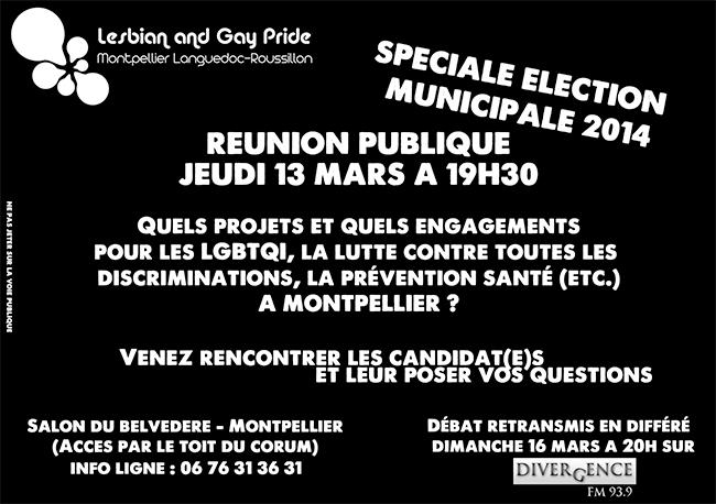 Municipales 2014 à Montpellier : Quels projets et quels engagements pour les LGBTQI