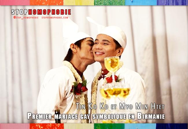 Premier mariage homosexuel symbolique et #traditionnel en #Birmanie