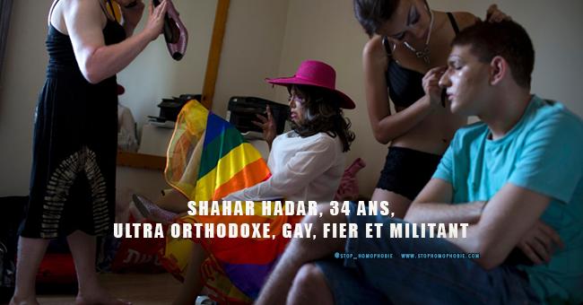 SHAHAR HADAR, 34 ANS, ULTRA ORTHODOXE, GAY, FIER ET MILITANT