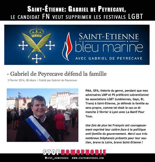 Saint-Étienne: Gabriel de Peyrecave, le candidat #FN veut supprimer les festivals #LGBT