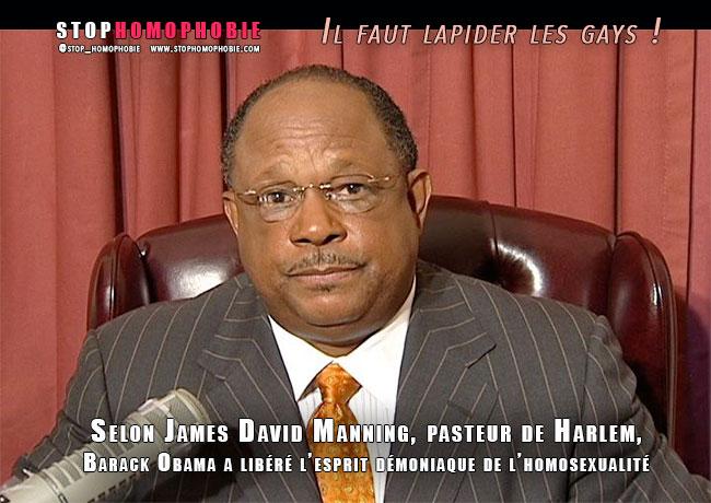 Selon James David Manning, pasteur de Harlem, Barack Obama a libéré les démons homosexuels