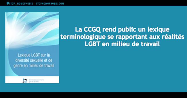 Québec. Solidarité sociale : un Guide sur les droits des personnes face à l'homophobie en milieu de travail