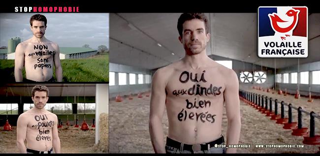 """#VIDEO. Mauvais goût : Une campagne aux relents douteux avec un """"Homen"""" pour défendre la Volaille Française"""