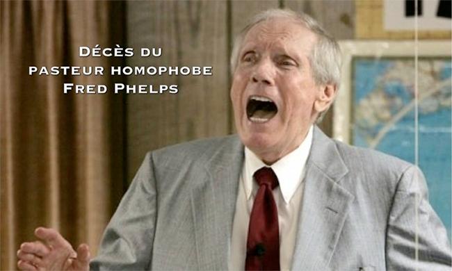 Etats-unis : Décès du pasteur #homophobe Fred Phelps
