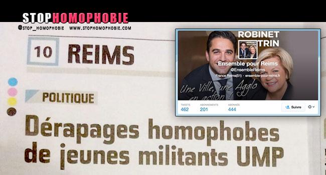 @EnsembleReims : Dérapages politiques et #homophobes, l'UMP gèle les tweets !
