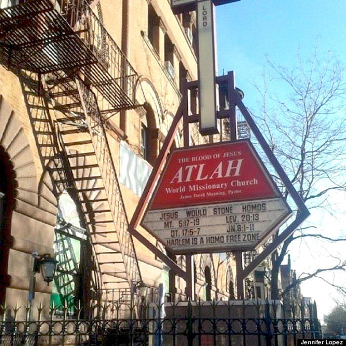 """""""ATLAH Worldwide Missionary Church"""" : Quand une lesbienne réclame sa lapidation devant une église de Harlem"""