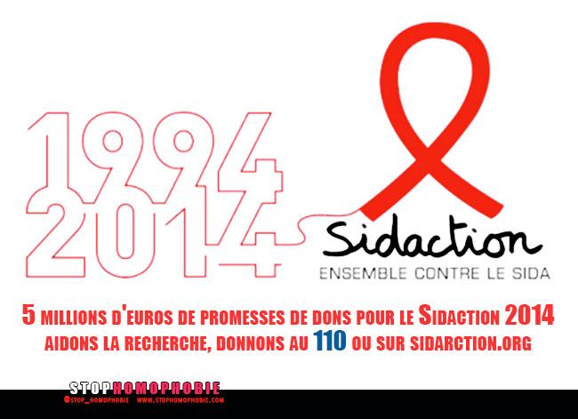 5 millions d'euros de promesses de dons pour le Sidaction 2014