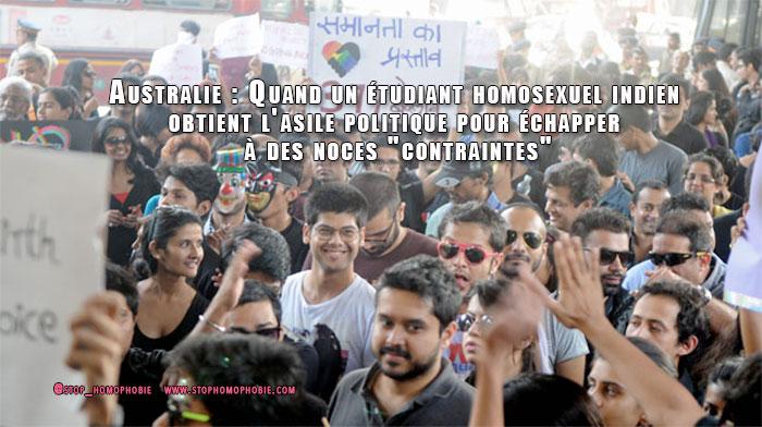 """Australie : Quand un étudiant homosexuel indien obtient l'asile politique pour échapper à sa famille, et à des noces """"contraintes"""""""